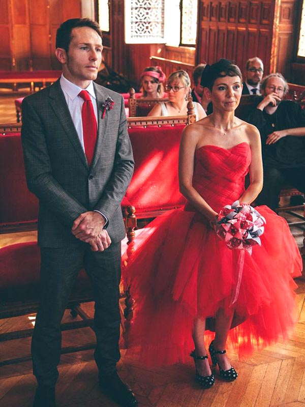 Robe de mariée Rouge Ceremony Day