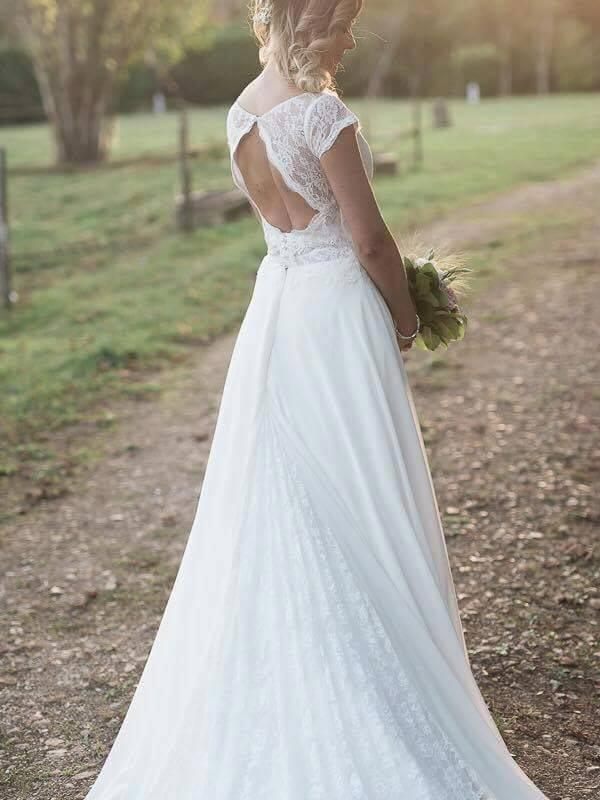 Robes de mariée sur-mesure Paris Ceremony Day