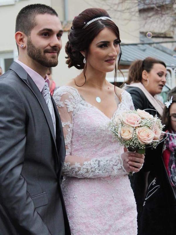 Robe de mariée Rose Ceremony Day