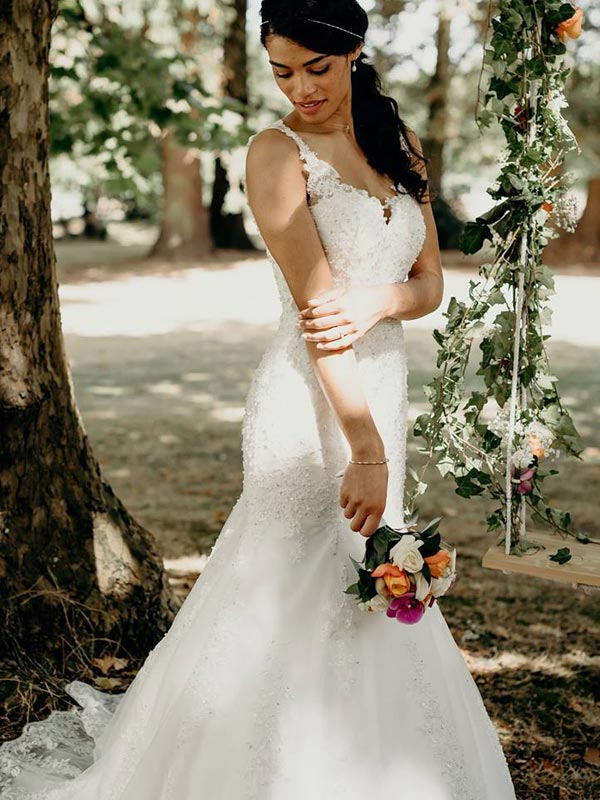 Robe de mariée Sirène Ceremony Day